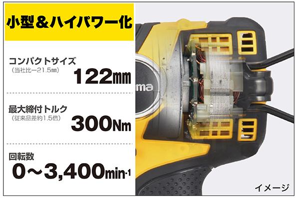 新開発 ブラシレスモーター採用