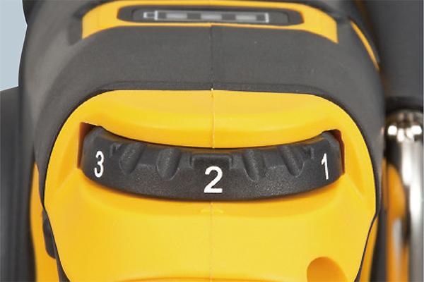 4段階スピード調整ダイヤル